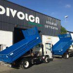 Nuevos trabajos de carroceria volquetes realizados para Ayuntamiento de Jerez